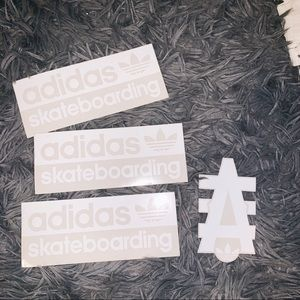 Set of 4 Adidas Stickers Skateboarding Logo